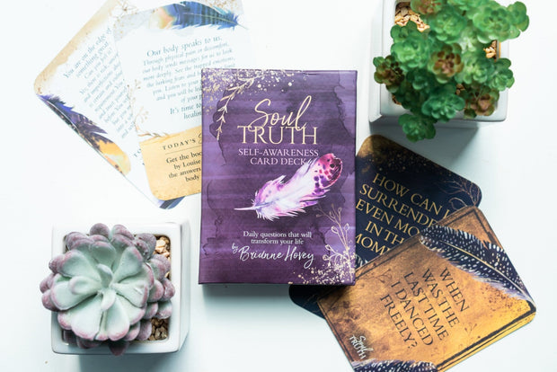 Our Soul Truth Cards promote self-awareness and personal growth. Each card prompts you to ask yourself a question, answer honestly and work toward personal growth.