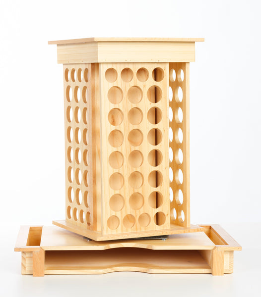 Essential Oil Wooden Rotating Display-Show off your