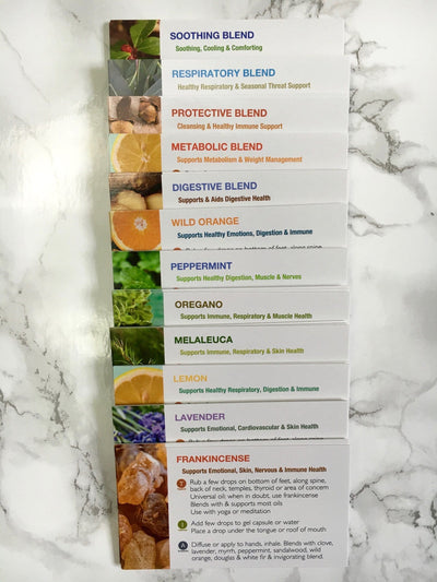 Handout Cards for Top Selling Essential Oils