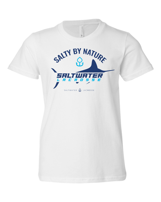 """Salty By Nature"" YOUTH Short Sleeve-T"