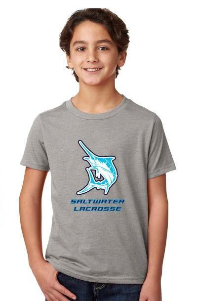 Boy's #GET SALTY Saltwater T - Dark Heather Grey