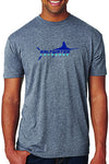 Boy's Custom Saltwater T - Heather Grey