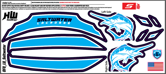 Copy of Saltwater Lacrosse - Cascade-S Headwrapz - Helmet Decals