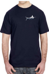 "Saltwater ""LIVIN' SALTY PLAYIN' HARD"" T-shirt in Heather Grey and Navy Blue"