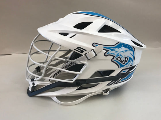 "Saltwater Custom Cascade S ""Whiteout"" Helmet (with team Headwrapz)"