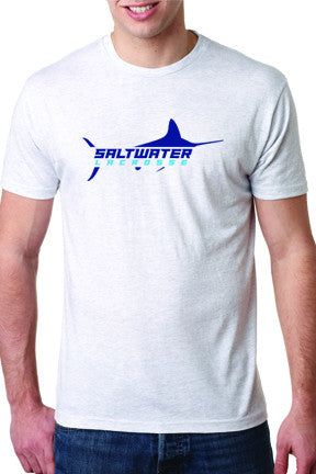 Men's Saltwater Short Sleeve T-Shirt Heather White