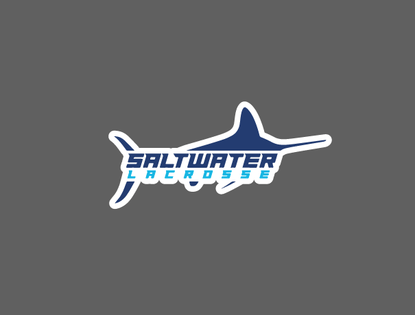 Saltwater Lax Sticker - Marlin Logo