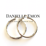 Ayat White Gold Hoop Earrings - Danielle Emon