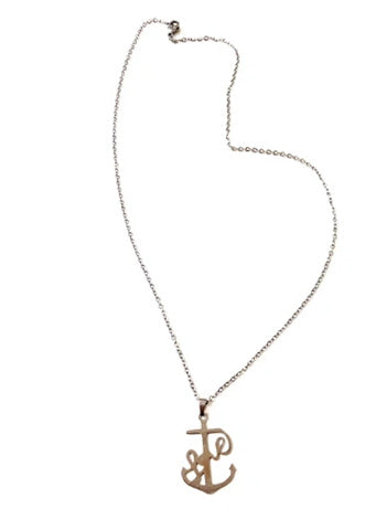 "Initial ""P"" Necklace"
