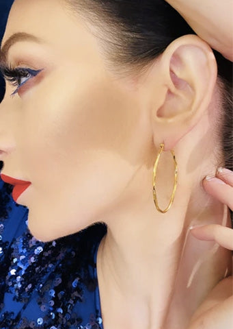 Abigail hoop earrings