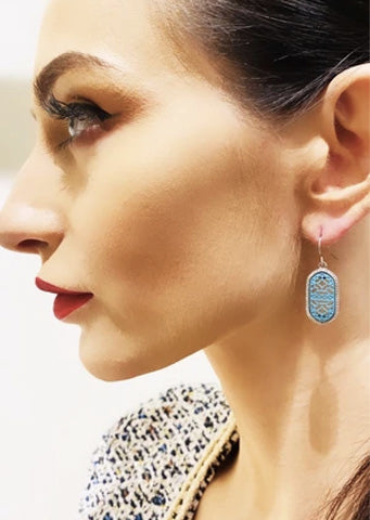 "The ""Charlot"" Leopard and Pink Earring"