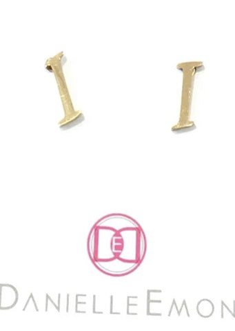 "The Initial ""I"" Stud Earrings"