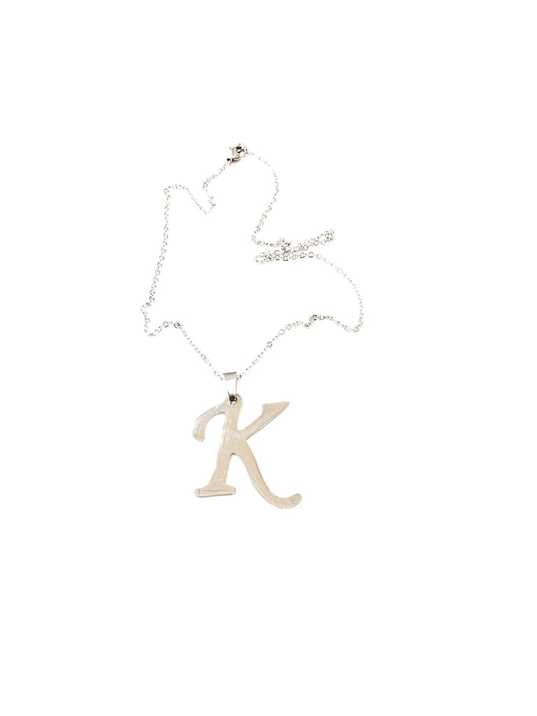 "The ""K"" Initial Necklace - Danielle Emon"