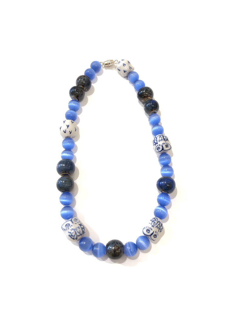 The Dakota Blue Choker Necklace - Danielle Emon