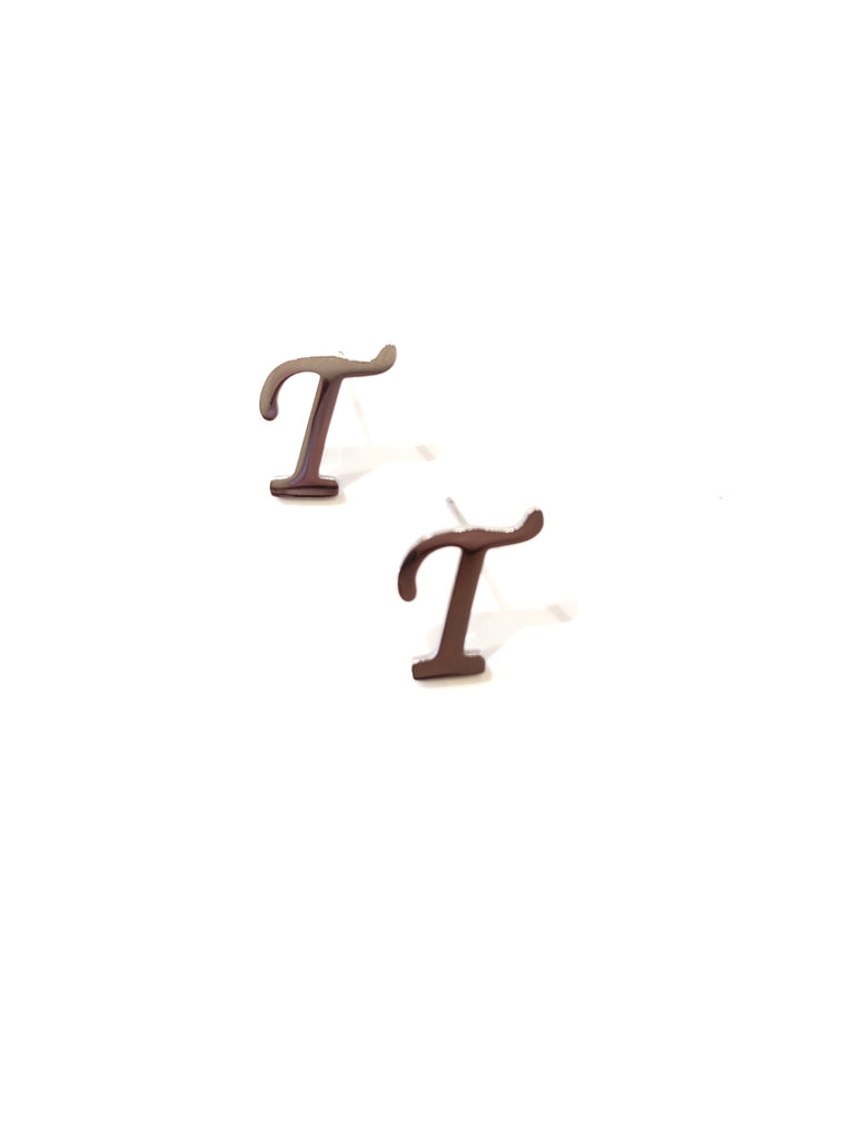 "The Initial ""T"" Earring"