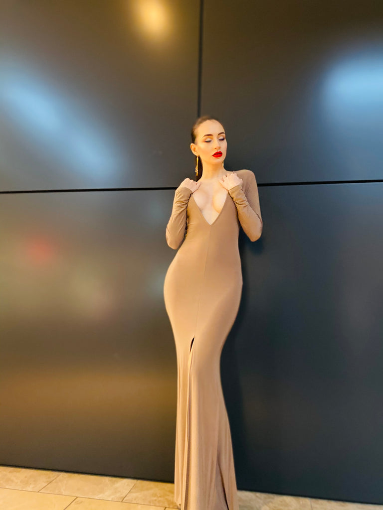 "The ""Michelle"" Mocha Gown"