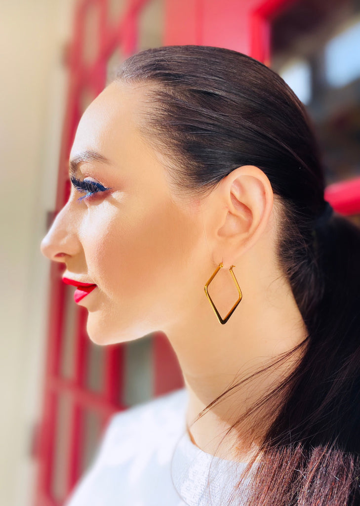 "The ""Maine"" Square Shaped Hoop Earring - Danielle Emon"