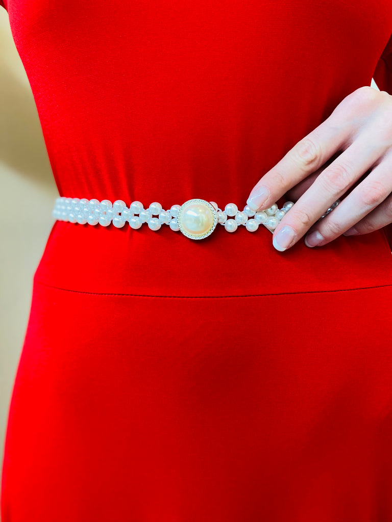 The Skylar Pearl Stretch Belt