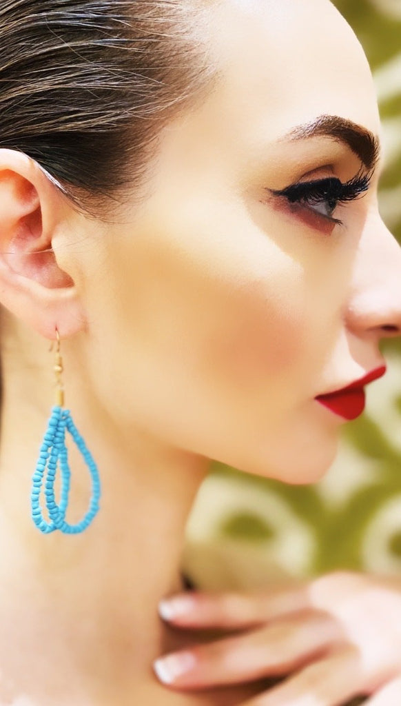 The Cecelia White Beaded Earring - Danielle Emon