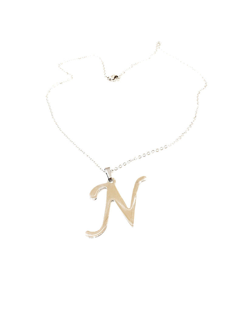 "The ""N"" Initial Necklace"