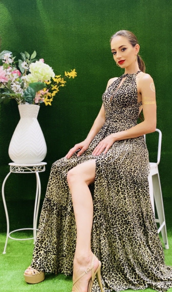 The Estelle Leopard Resort Dress - Danielle Emon