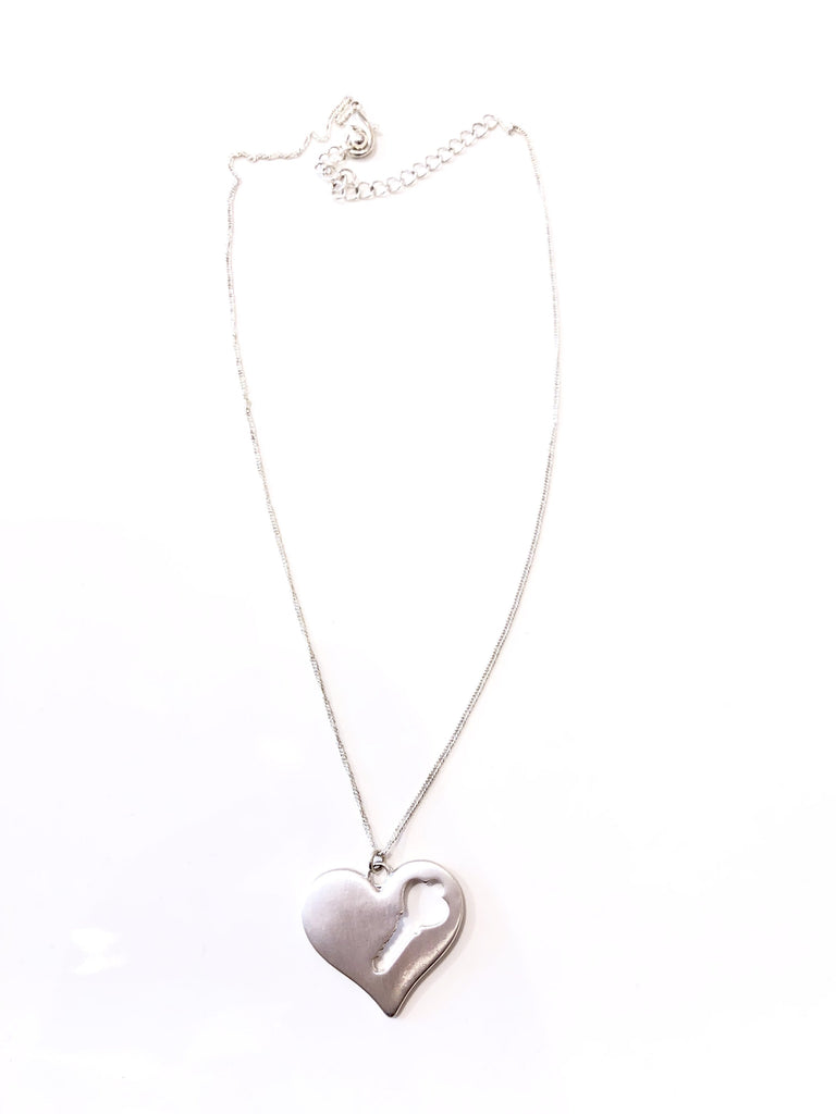 The Esmeralda Heart with Cut-Out Key Necklace