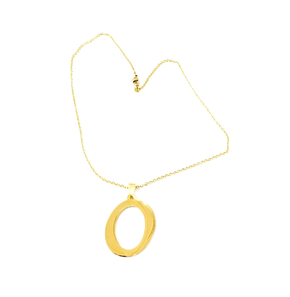 "The ""O"" Initial Necklace - Danielle Emon"