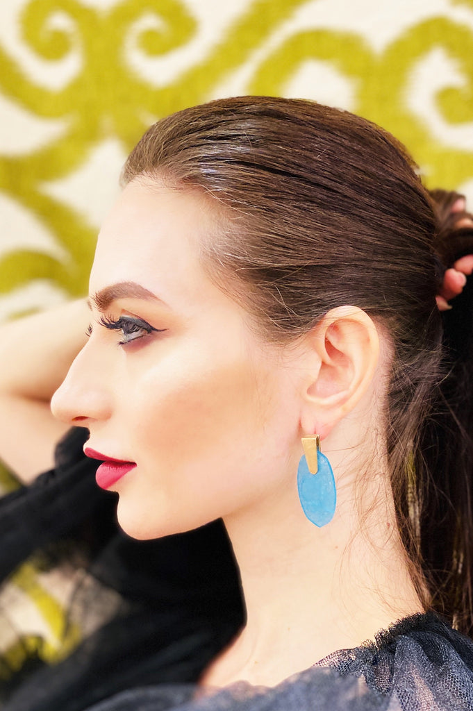 The Lolita Turquoise Drop Earring - Danielle Emon