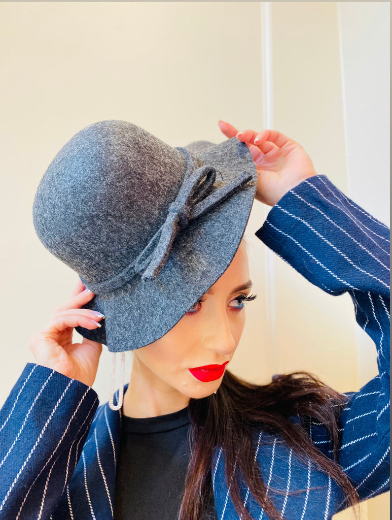 "The ""Frenchie"" Felt Hat with Brim"