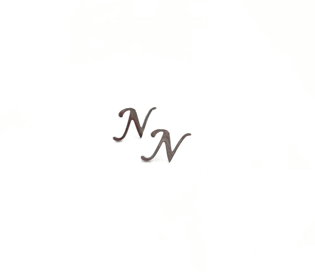 "Initial ""N"" stud earrings - Danielle Emon"
