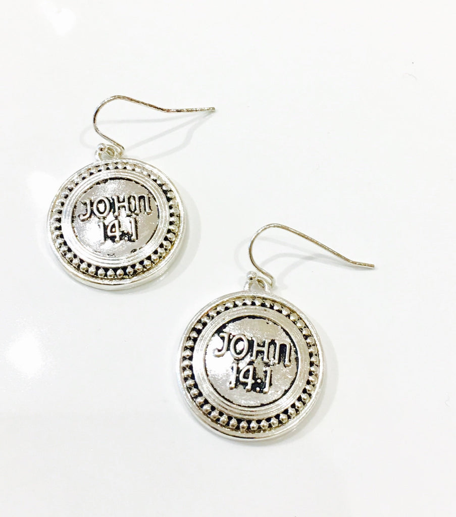John 14:1 Earrings