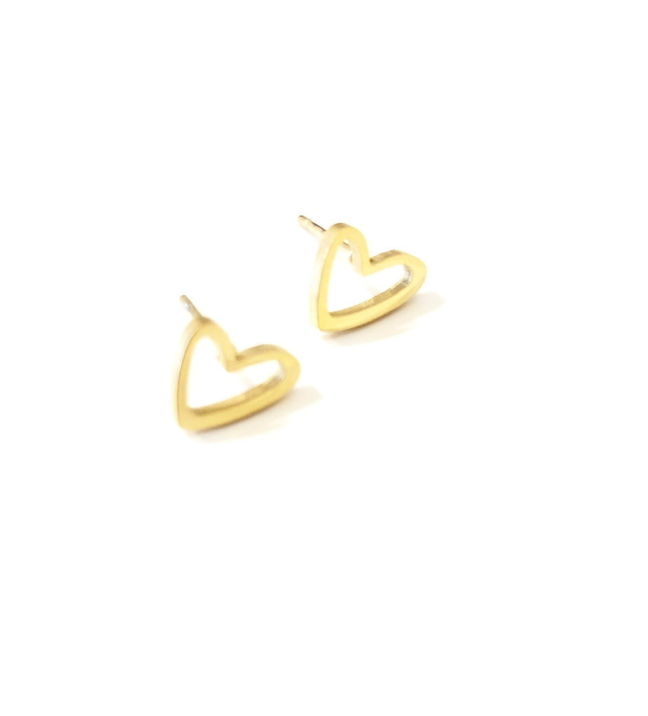 "The ""Chiara"" Heart Stud Earring - Danielle Emon"