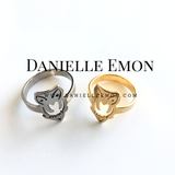 The Owl Stainless Steel Ring - Danielle Emon