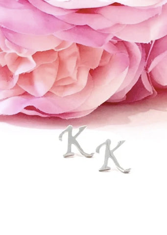 "The Initial ""K"" Stud Earring"
