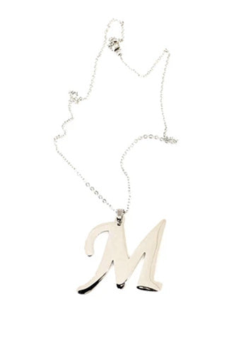 "The ""M"" Initial Necklace"