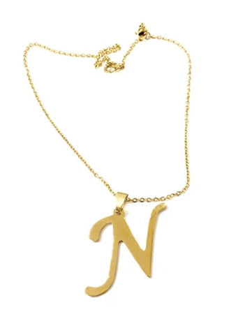 "The Initial ""N"" Necklace"