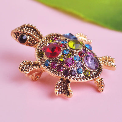 Dazzle Turtle Brooch