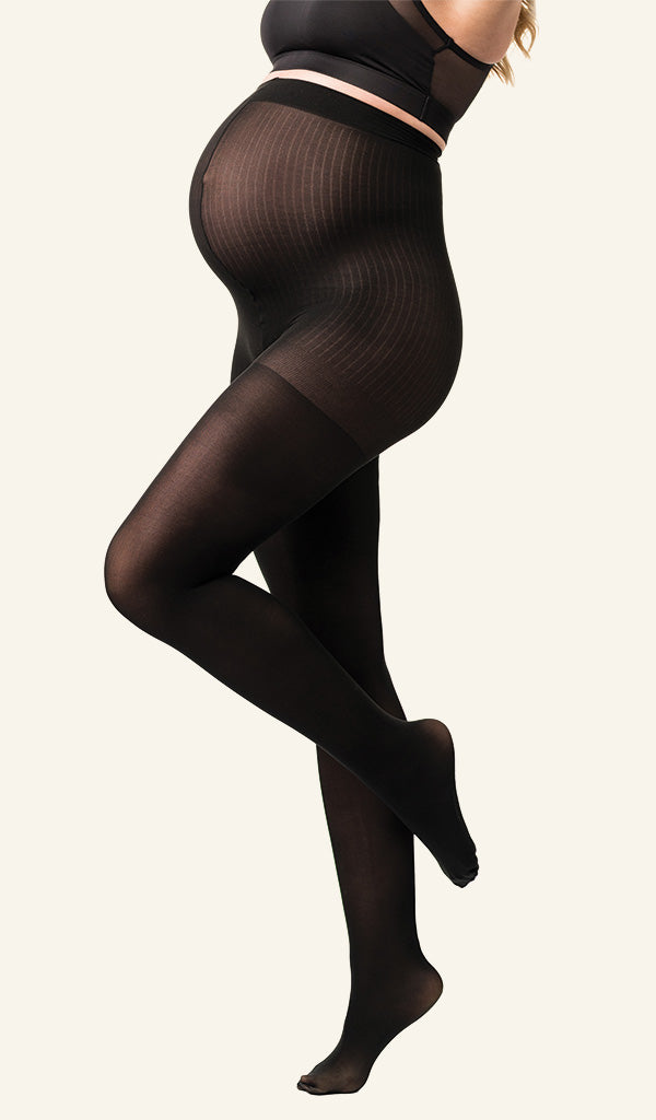 Buy Maternity Garments Two Pack Opaque Maternity Tights Belevation