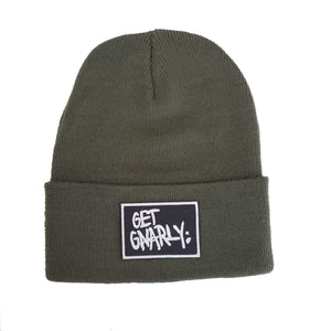 Classic Box Logo Cuff Beanie Military Green-Beanie-Get Gnarly