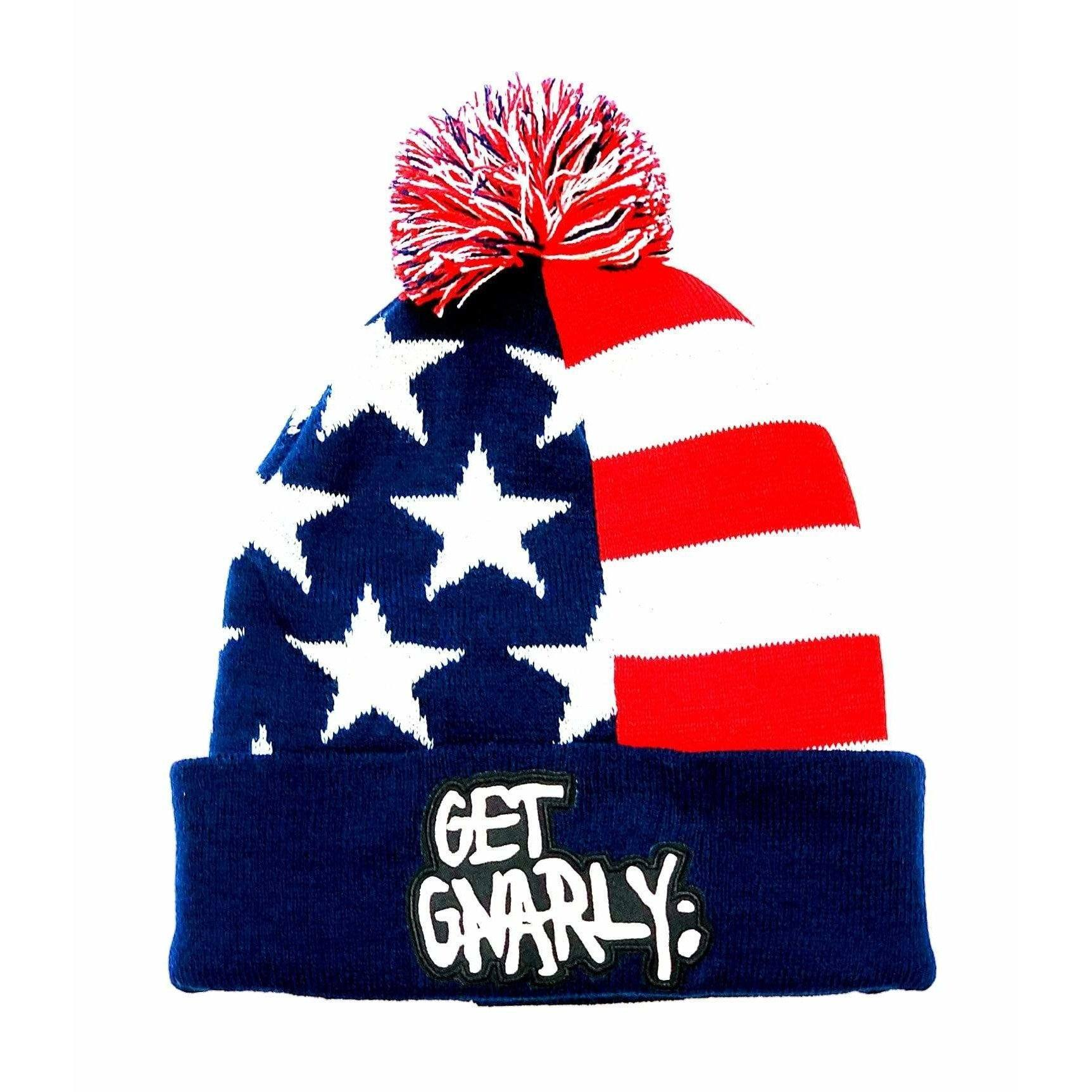 Get Gnarly Core Logo Pom Beanie American Stars-Beanie-Get Gnarly
