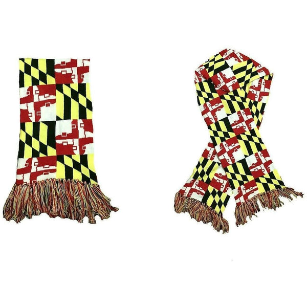 Get Gnarly Maryland Skate Flag Knit Scarf-Beanie-Get Gnarly