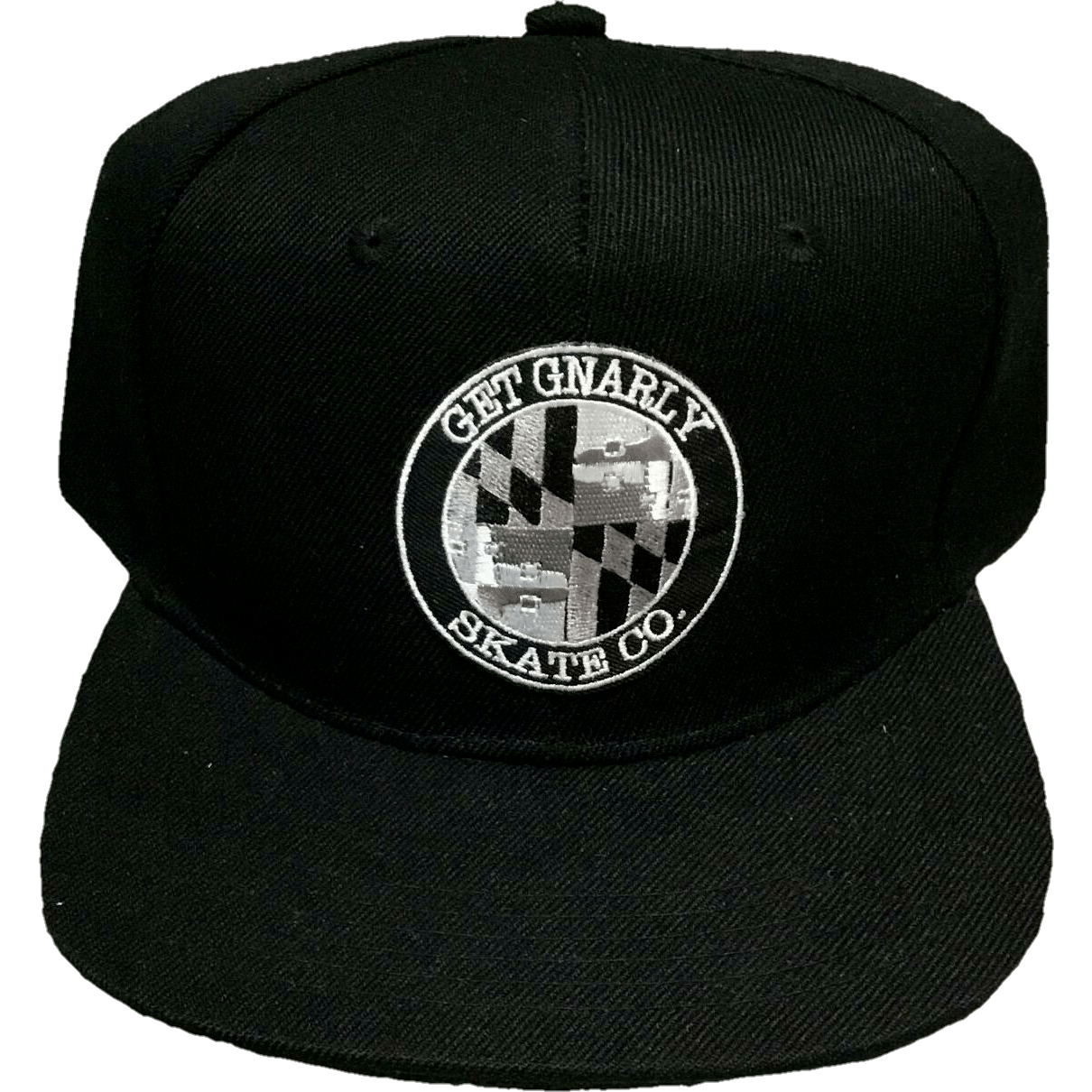 Get Gnarly Skate Co. Shield Snapback Black-Hat-Get Gnarly