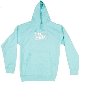 Get Gnarly Box Logo Pullover Hoodie Cool Mint-Sweatshirt-Get Gnarly
