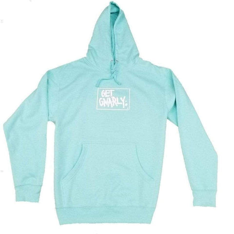 Box Logo Pullover Hoodie Cool Mint-Sweatshirt-Get Gnarly