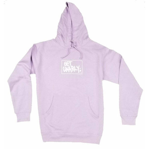 Get Gnarly Box Logo Pullover Hoodie Lavender-Sweatshirt-Get Gnarly