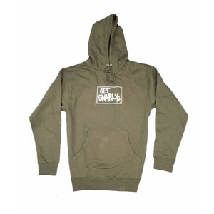 Get Gnarly Box Logo Pullover Hoodie Military Green-Sweatshirt-Get Gnarly