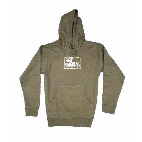 Box Logo Pullover Hoodie Military Green-Sweatshirt-Get Gnarly