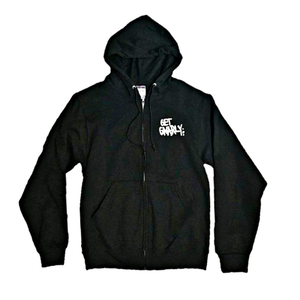Core Logo Zip Hooded Sweatshirt-Sweatshirt-Get Gnarly