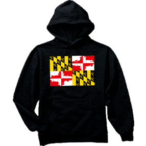 Get Gnarly Maryland Skate Flag Pullover Hoodie-Sweatshirt-Get Gnarly