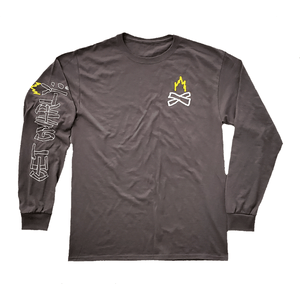 Bonfire Long Sleeve Tee-T-Shirts-Get Gnarly